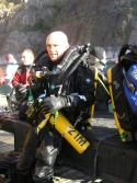 Rebreather training at Chepstow